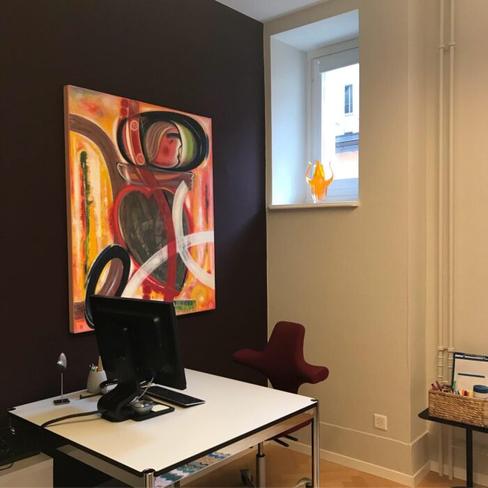 Farbgestaltung Büroraum